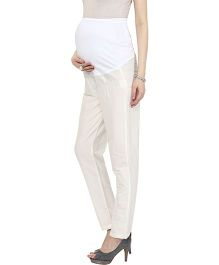 Mamacouture Maternity Straight Indian Pants - Ivory