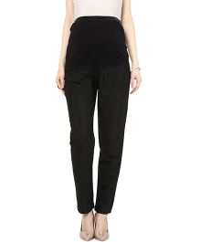 Mamacouture Maternity Straight Indian Pants - Black