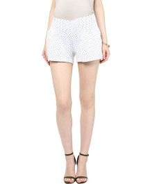 Mamacouture Maternity Shorts Polka Dots - White