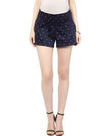 Mamacouture Maternity Shorts Polka Dots Print - Navy Blue
