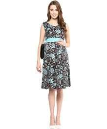 Mamacouture Sleeveless Printed Short Dress - Blue