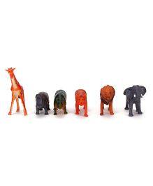 Smiles Creation Wild Animal Toys Multicolour - Set of 6