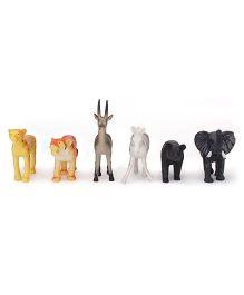 Smiles Creation Wild Animals Set - 6 Figurines