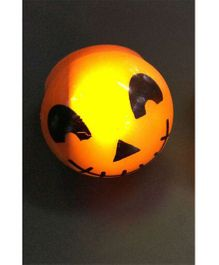 Funcart Flashing Rings Halloween Face Orange - 4 Pieces