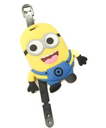 Funcart Minions Luggage Tag Yellow And Blue - 4 Inches