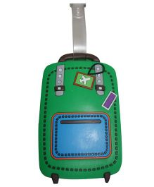 Funcart Lets Fly Luggage Tag - Green