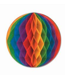 Funcart Honeycomb Pom Ball Multicolor - 2 Pieces