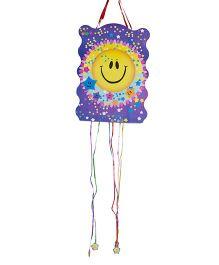 Funcart Smiley Pull String Pinata - Purple