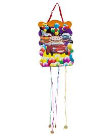 Funcart Cars Pull String Pinata - Multicolor