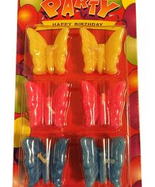 Funcart Butterfly Assorted Color Candles - Pack of 6