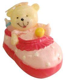 Funcart Teddy Shoe Candle - Pink