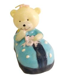 Funcart Teddy Shoe Candle - Blue
