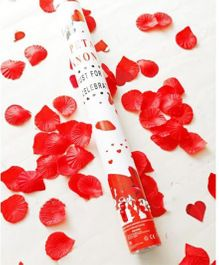 Funcart Red Rose Petals Confetti Party Popper - 11 Inches