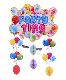 Funcart Party Time Hanging Decoration With - Multicolor