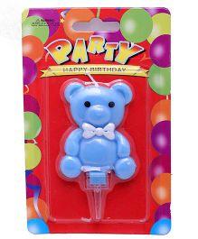 Funcart Teddy Bear Candle - Blue