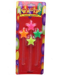 Funcart Star Candles On Stick - Multi Color
