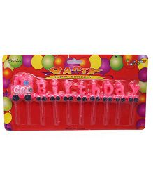 Funcart Train Birthday Candle - Pink