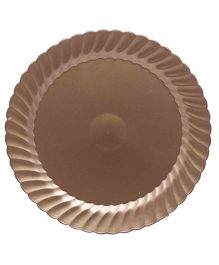 Funcart Plastic Disposable Plate Pack Of  10 - 10.5 Inches