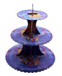 Funcart Three Tiered Princess Cupcake Stand - Purple