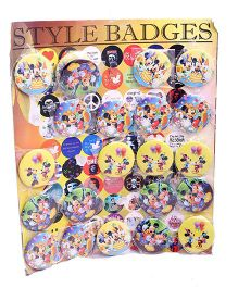 Minnie Mickey And Mouse Pin Badges Multicolor - Pack Of 3