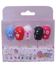 Funcart Funny Ice Cream Faces Candles - Pack Of 5