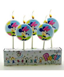 Disney Round Minnie Mouse Toothpick Candles - Pack Of 5