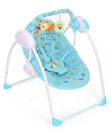 Baby Prim Portable Swing Animal Print - Blue