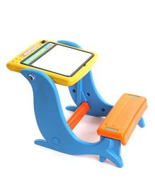 Toyzone 4 In One Student Desk - Blue & Yellow