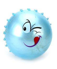 Kids Ball With Funny Cartoon Print - Light Blue
