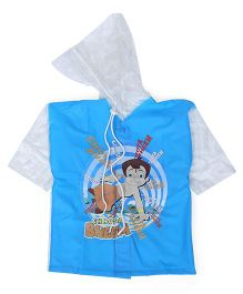 Chhota Bheem Printed Hooded Raincoat - Blue