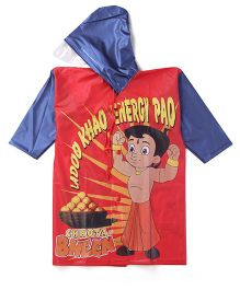 Chhota Bheem Printed Hooded Raincoat - Red