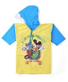 Mickey Hooded Raincoat - Yellow