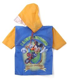 Mickey Hooded Raincoat - Blue And Orange