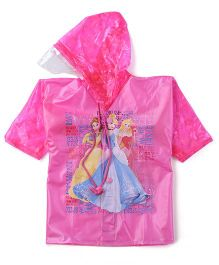 Disney Princess Hooded Raincoat - Pink