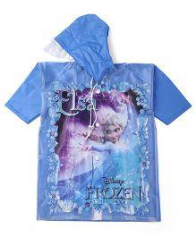Disney Frozen Hooded Raincoat Elsa Print - Blue