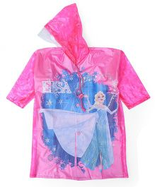 Disney Frozen Hooded Raincoat - Pink
