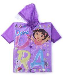 Dora Hooded Raincoat - Purple