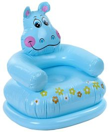 Intex Inflatable PVC Happy Animal Chair Hippo - Blue