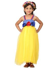 Pakhi Snow White Themed Tutu Dress - Yellow And Blue