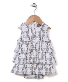 Kate Quinn Fish Print Dress - Off White