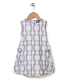 Kate Quinn fISH Print Dress - White