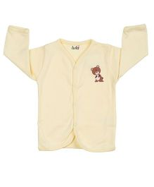 Lula Full Sleeves Vest Bear Print - Light Yellow