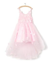 Whitehenz Clothing Stylish Tutu Floral Dress - Pink