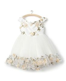 Whitehenz ClothingRossette Tutu Dress - Cream
