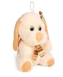 Tickles Doggy With Mufler Soft Toy Cream - 7 Inches