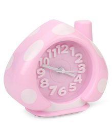 Analog Alarm Clock Polka Dots - Pink