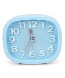 Rectangular Shape Analog Alarm Clock - Blue