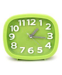 Rectangular Shape Analog Alarm Clock - Green