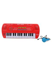 Mitashi Skykidz Party Piano With Microphones - Red