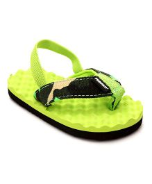 Fresko Baby Shoes With Strap - Green